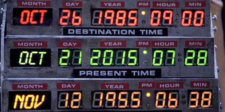 Le futur c'est maintenant #Backtothefuture !