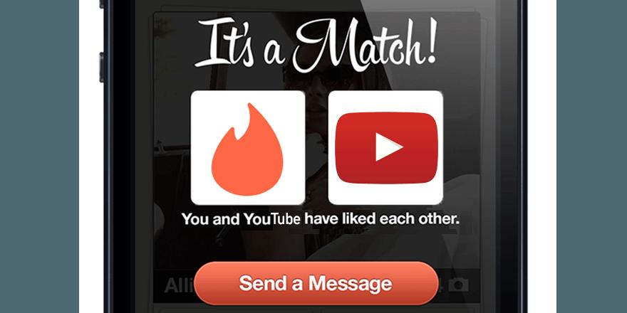 Tinder refait le match avec Youtube