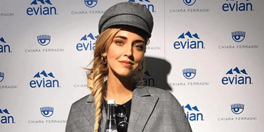 Chiara Ferragni s'hydrate à l'eau d'Evian