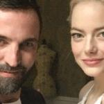 nicolas ghesquière et Emma Stone pour Louis Vuitton